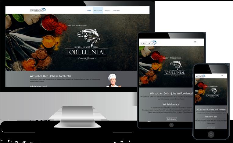 Webseite Restaurant zum Forellental