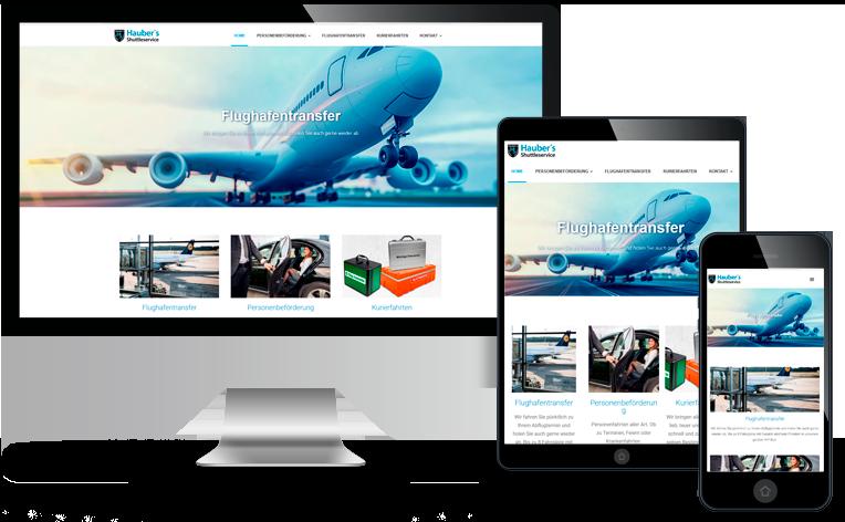 Webseite Haubers Shuttleservice